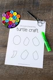 colorful cd u0026 button turtle craft for kids