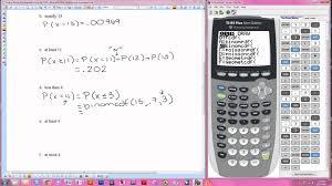 Binomial Probabilities Table Finding Binomial Probabilities Using The Ti 84 Youtube