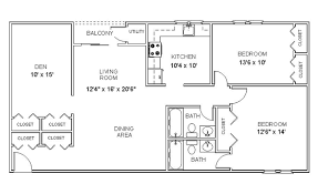 two bedroom two bath floor plans apartment floor plans two bedroom den two bath apartments in