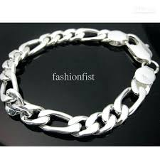 mens silver bracelet chain images Silver bracelet mens mens silver bracelets ebay uk guardianspirit jpg