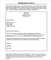 17 resignation letter templates free word pdf excel sles