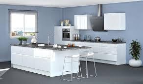 cuisine blanche mur gris deco cuisine noir decoration blanche et 1 gris bleu