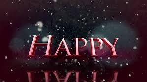 a beautiful message clip depicting happy holidays as a