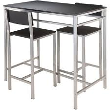 3 Piece Kitchen Table by Winsome Hanley 3 Piece Kitchen High Table Set Black Top Metal
