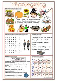thanksgiving vocabulary exercises worksheet free esl printable