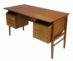 Small Teak Desk 1960s Small Teak Desk W Storage Hoopers Modern
