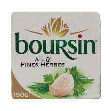 boursin cuisine ail et fines herbes ail fines herbes garlic cheese 150g
