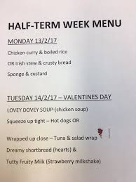 valentines day writing paper february 2017 st patrick s ps drumgreenagh our school dinner menu