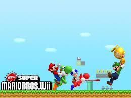super mario bros wii wallpaper download