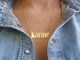 Personalized Gold Name Necklaces The 25 Best Gold Name Necklace Ideas On Pinterest Name Necklace