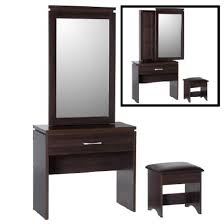 Tesco Vanity Table Carlo Dressing Table In Walnut With Mirror And Stool Home Ideas