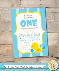 rubber duck birthday invitation printable boy birthday