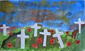 remembrance day paintings art here and there
