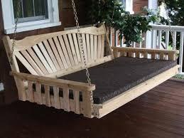 fanback red cedar swing bed a u0026l furniture u2013 magnolia porch swings
