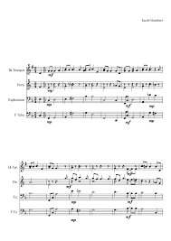 o tannenbaum sheet music made by jacob andrew henry gambrel for 4