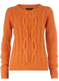 orange sweater orange cabled sweater crafthubs