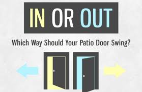 Out Swing Patio Doors In Or Out Which Way Should Your Patio Door Swing Kravelv