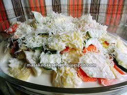cara membuat salad sayur atau buah cara membuat resep salad buah sayur susu keju saus mayonaise