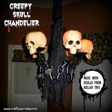 crafty in crosby creepy skull chandelier diy