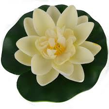 artificial floating flower lotus water lily decor pool pond tank
