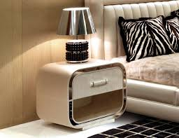 glorious modern small nightstand design with curvaceous edges and