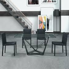 cuisine rectangulaire table cuisine en verre table a manger rectangulaire design en