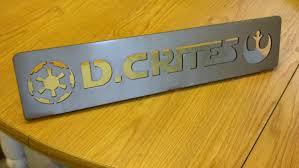 star wars desk name plate steel