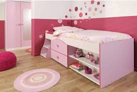 awesome minimalist girls bedroom furniture design in soft pink red