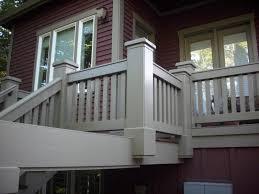 Painted Banisters Portland Ipe Deck Refinishing Freshly Painted Railing U2013 Deck