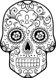 printable coloring pages sugar skulls day of the dead printable coloring pages simploos co