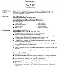 exle of the resume electronic technician resume exle http resumesdesign