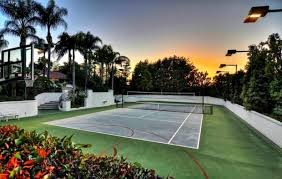 Backyard Tennis Courts As The Wimbledon Championships Play Out See O C Houses With