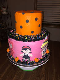 Halloween Birthday Cakes Pictures by 2 Tier Halloween Birthday Cake Cakecentral Com