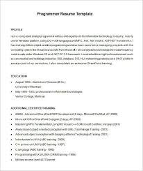 programmer resume exle it programmer resumes pertamini co