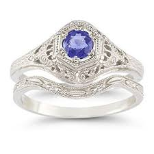 tanzanite wedding rings antique style tanzanite wedding ring set jewelry