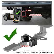 2 inch tow hitch super white led working lights not fit tow hitch