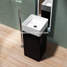 bathroom sink one piece pedestal basin floor standing wash basin