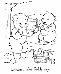 teddy bear coloring pages free printable baby bear cry coloring