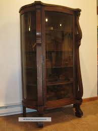 antique hutch with glass doors ebert furniture co antique bowfront oak china curio cabinet