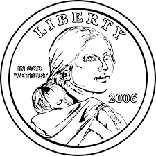 free coloring pages of mexico coins quarter coin coloring page in
