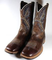 s quickdraw boots s ariat quickdraw rowdy brown blue boots size 10 5 d