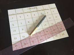 pinterest diy paint chip calendar
