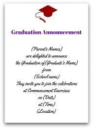 what to write on a graduation announcement formal graduation invitation wording yourweek 2faa0beca25e