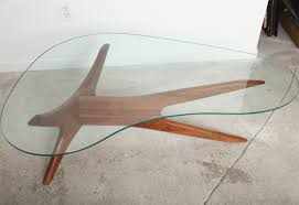 Coffee Table Wood And Glass Kidney Shaped Coffee Tables