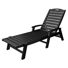 Outdoor Lounge Chair Trex Outdoor Furniture Yacht Club Charcoal Black Plastic Patio