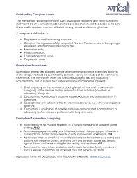Certified Nursing Assistant Cover Letter Sample Live In Caregiver Resume Sample Resume For Your Job Application