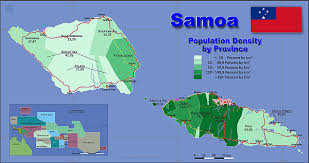 map samoa map samoa popultion density by administrative division