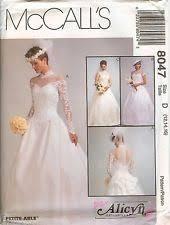 wedding dress patterns mccalls wedding dress pattern ebay