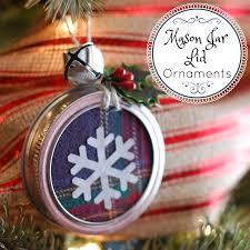 mason jar lid ornaments easy farmhouse christmas