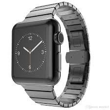 black link bracelet images Luxury band for apple watch link bracelet 38mm 42mm 316l stainless jpg